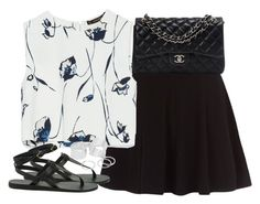 """""""Untitled #405"""" by flowercalder ❤ liked on Polyvore featuring Zara, Chanel, Ancient Greek Sandals and Pieces"""
