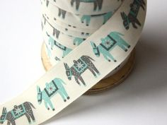 Christmas Donkey. Love this Alice Pattullo designed ribbon from Ray stitch.