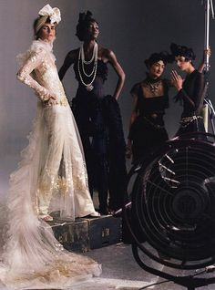 Models in Chanel - photography by Annie Leibovitz for Vogue US