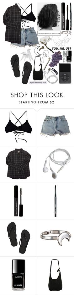 """Untitled #830"" by imherpacifier ❤ liked on Polyvore featuring RVCA, Levi's, Bonpoint, Le Métier de Beauté, Bobbi Brown Cosmetics, Havaianas, Grace + Scarper, Chanel, Disney and Hermès"