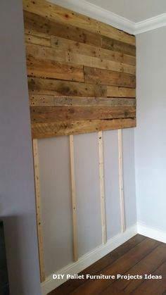 Use Pallet Wood Projects to Create Unique Home Decor Items Diy Pallet Furniture, Diy Pallet Projects, Home Projects, Pallet Ideas, Furniture Ideas, Furniture Design, Wood Furniture, Wooden Pallet Wall, Wood Pallets