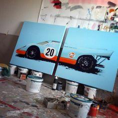 Tom Havalasek Retro Motorsport Art