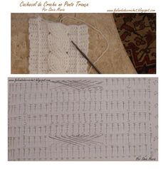 Crochet cable scarf, with chart