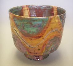 """Beatrice Wood, Figured Bowl - """"For a deeper, seemingly embedded reduction luster glaze, she would throw mothballs into her electric kiln."""""""