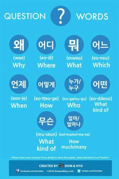Korean question vocabulary