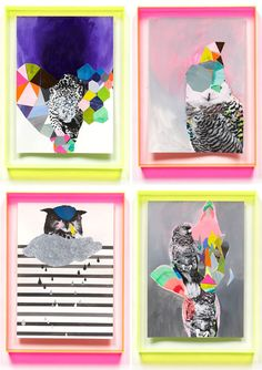 Miranda Skoczec, a local Melbourne artist. Love the colours shapes she uses, would definitely love one of these babies on my wall.