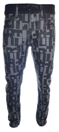 True Religion Mens Jeans Size 33 Dean Relaxed Tile Super T Liquid Ink NWT $498 #TrueReligion #SlimSkinny