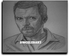 HUGH LAURIE/DR. HOUSE/CELEBRITY REALISM GRAPHITE PENCIL DRAWING  BY ARTIST  #Realism