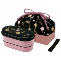 Japanese Bento Lunch Box Designer Set Slim Pink Flower - All Things For Sale Japanese Bento Lunch Box, Bento Box Lunch, Lunch Box Set, Lunch Box Containers, Vintage Lunch Boxes, All Japanese, Baking Supplies, Household Items, Dinnerware