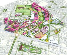 In response to this vision, Sasaki's urban regeneration plan for Tecnológico de Monterrey establishes a framework for the long-term evolution of the campus and adjoining neighborhoods. Landscape Plans, Urban Landscape, Landscape Architecture, Architecture Diagrams, Landscape Designs, Architecture Drawings, Architecture Design, Plan Maestro, Innovation And Entrepreneurship