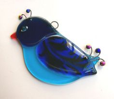 Fused Glass Suncatcher (blue bird)