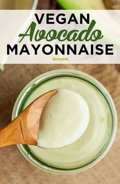 Plant-Based Avocado Mayonnaise Whether youre vegan or just eating clean learn how to make vegan avocado mayonnaise for a healthy mayo alternative that will cut fat and cholesterol. The post Plant-Based Avocado Mayonnaise appeared first on Vegan. Vegan Sauces, Vegan Foods, Vegan Dishes, Dairy Free Sauces, Healthy Sauces, Vegan Life, Raw Vegan, How To Eat Vegan, Vegetarian Recipes
