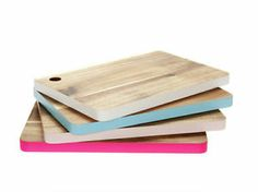 Colour Edged Wooden Cutting Chopping Board, Present Time, PT, Contemporary, Wood | eBay