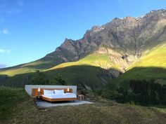 Located 6,463 feet above sea level, the Null Stern sits in the middle of the Swiss Alps. It costs about $210 a night.