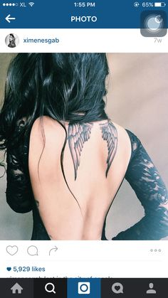 Angle Wing Tattoos, Angle Tattoo, Clavicle Tattoo, Wing Tattoos On Back, Back Tattoo, Tribal Tattoos, Tattoos Skull, Body Art Tattoos, Celtic Tattoos