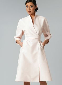 V1239 | Misses' Swan-Neck Dress and Belt Sewing Pattern | Vogue Patterns