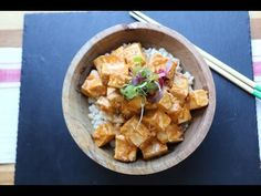 Tofu with Spicy Peanut Sauce - The Buddhist Chef