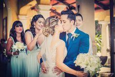 Gorgeous kiss! Maria Laura Ferreyra & Lenny Morejon catholic wedding ceremony in Mexico, wedding Chapel in Riviera Maya, Nuestra Señora de las Nieves #CatholicWedding #RivieraMaya #Boda