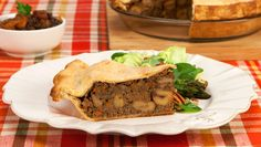 Chestnut Tourtiere and Winter Fruit Chutney - Recipes - Best Recipes Ever - Full of warm winter spices, this vegetarian savoury pie is elegant enough for entertaining and will please meat eaters too.
