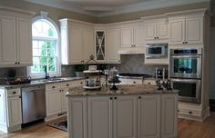 Kitchen Photos White Cabinets With Gray Island Design, Pictures, Remodel, Decor and Ideas