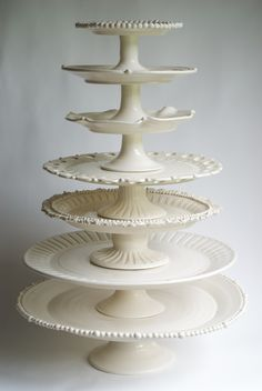 One Fine Wedding Day: Frances Palmer Pottery: Tableware with Life that Lasts a Lifetime Candybar Wedding, Wedding Cake, Cake Pedestal, Vintage Cake Stands, Tiered Stand, White Dishes, Plate Stands, Deco Table, Cake Plates