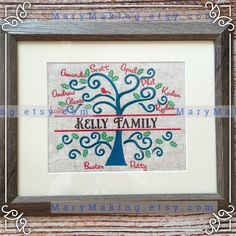 Custom Family Tree, Great for Mothers Day - pinned by pin4etsy.com