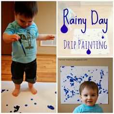 Minne-Mama: Rainy Day Drip Painting