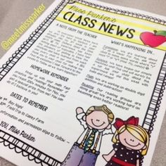 back to school article for newsletter