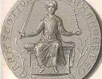 Ermengarde de Beaumont (c. 1170 – 11 February, 1233/1234) was a Queen consort of Scotland by marriage to King William I of Scotland. She was born c. 1170 to Richard I, Viscount of Beaumont-le-Vicomte, Fresnay and Ste-Suzanne & wife Lucie de l'Aigle. Among her children were Alexander II, King of Scotland.