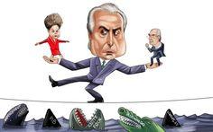 Mordomo em alta: Michel Temer torna-se o fiador da estabilidade durante crise política...