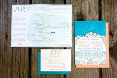 Shipwright Co Mountain Constellation Wedding Invitations OSBP8