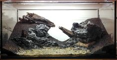 """thatfishchick:  """" fuck-yeah-aquascaping:  """" Hardscape before planting for my old 112l tank —- will keep low tech, only using plants and materials I already had.  """"  I actually would love to see this filled and stocked WITHOUT plants. It's a gorgeous,..."""
