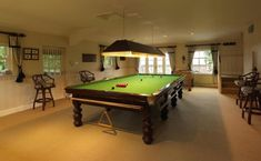 White Snooker Room with pictures.