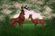 Disney Weddings: Bambi and Feline by Valvador on deviantART Bambi Disney, Old Disney, Disney Fan Art, Vintage Disney, Disney Cartoons, Disney Pixar, Disney Characters, Disney And More, Disney Love