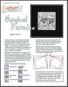 magical paradox zentangle article- Bernina's Through the Needle/online magazine.