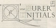1523 Durer Initials OTF by GLC Foundry on @creativemarket