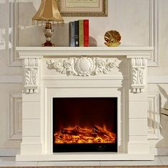 decorative fireplace set European style custom made carved natural stone mantel electric fireplace insert LED optical flame|Fireplaces| - AliExpress Stone Mantel, Wood Fireplace Mantel, White Fireplace, Stove Fireplace, Fireplace Inserts, Living Room With Fireplace, Decorative Fireplace, Free Standing Electric Fireplace, Electric Fireplace With Mantel