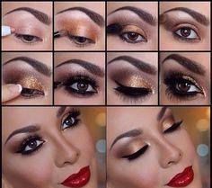 Beautiful Golden Eye Makeup