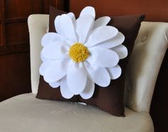 Daisy Flower Pillow Cover Beautiful for any Home Decor