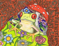 Melody Cabral frog threats art