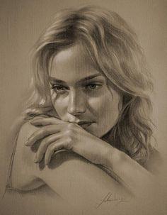 Diane2 - Pencil Sketches by Krzysztof Lukasiewicz