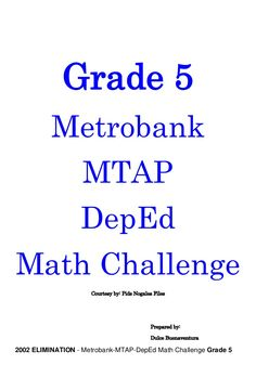 Grade 2 Metrobank MTAP DepEd Math Challenge Courtesy by: Pids Nogales Files Prepared by: Dulce Buenaventura 2006 Eliminati. Context Clues Worksheets, Spelling Worksheets, Therapy Worksheets, Printable Math Worksheets, 1st Grade Worksheets, Free Printables, 2nd Grade Books, 2nd Grade Math, Grade 3