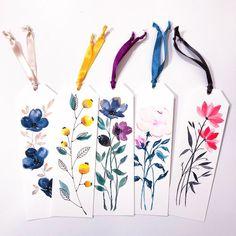 Floral Watercolor Bookmark Watercolor Bookmarks, Watercolor Cards, Watercolour Painting, Watercolor Flowers, Painting & Drawing, Watercolors, Drawing Flowers, Watercolor Artists, Art Flowers