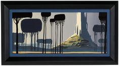 Castle on the Hill - Giclee Print (Lg Canvas)  Eyvind Earle for Sleeping Beauty <3