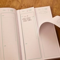 perforated lists from Paper+Cup's Old School Ledger