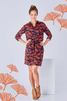 THAT BIRD LABEL - Pheonix Relaxed Shirt Dress Into The Woods