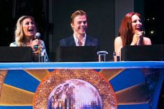 Emma Slater, Derek Hough and Sharna Burgess (from left to right)  – Dancing with the Stars: At Sea Guest Experience Is Tops Onboard Holland America Line's Nieuw Amsterdam | Popular Cruising (Image Copyright © Jason Leppert)