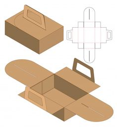 Box packaging die cut template design Premium Vector – Design is art Box Packaging Templates, Gift Box Packaging, Food Packaging Design, Cookie Packaging, Box Design, Layout Design, Package Design Box, Carton Design, Paper Box Template