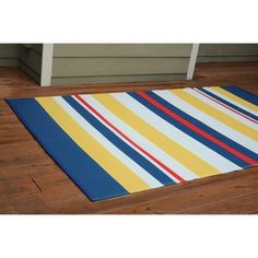 Pamela Crawford's Color Your Patio Nautical Stripe Rug