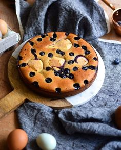 I was going to put this ginger, pear and blueberry torte on the blog tonight, but technology transpired against me and Simply Nigella was on.